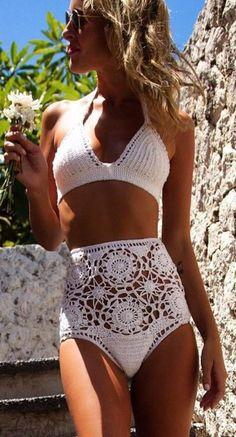 Calcinha cintura alta branca