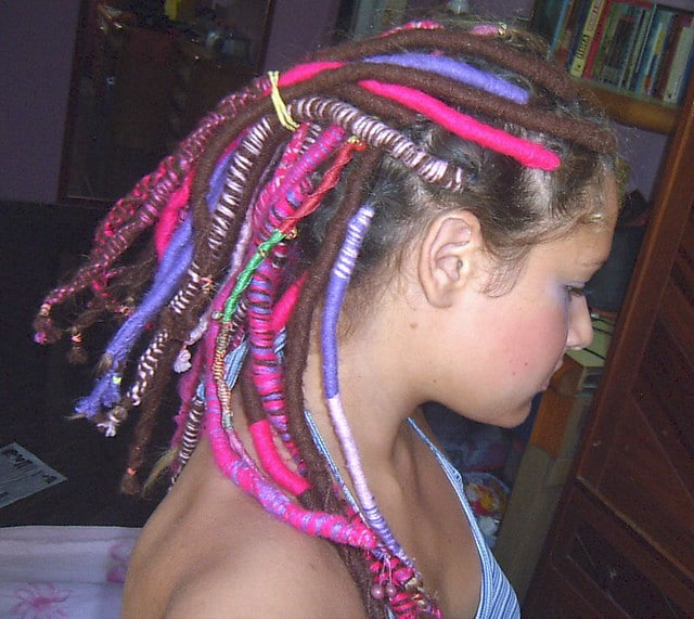 dreads coloridos
