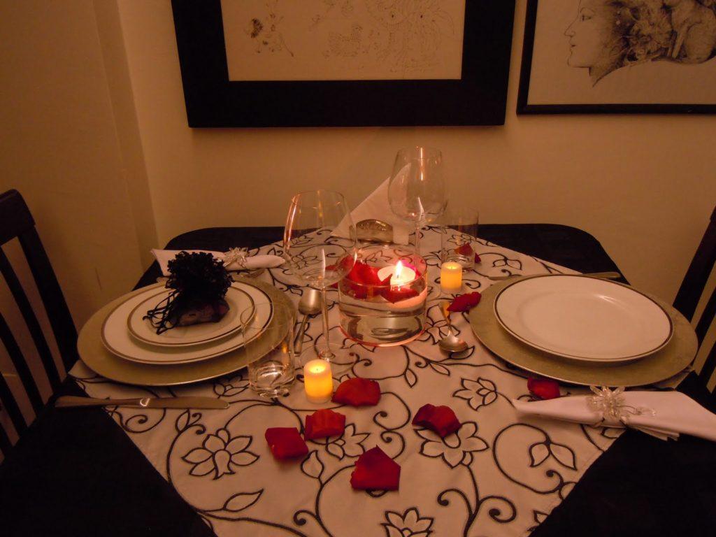Surpresa para namorado jantar a doisa