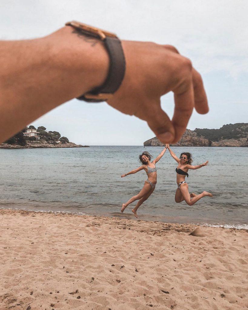 foto divertida na praia