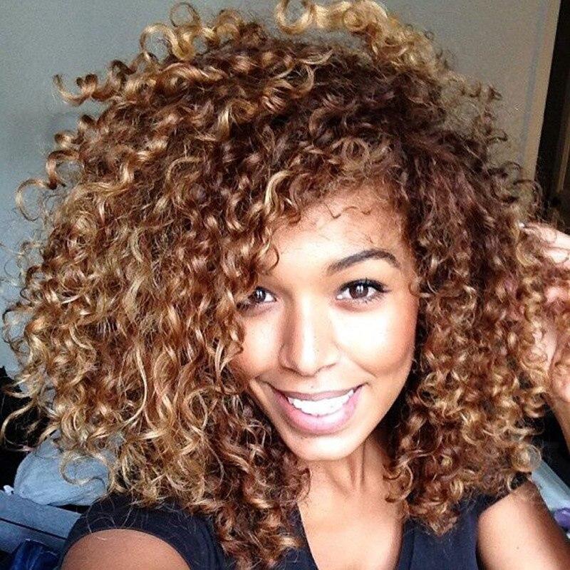 cabelo com cachos loiro escuro dourado