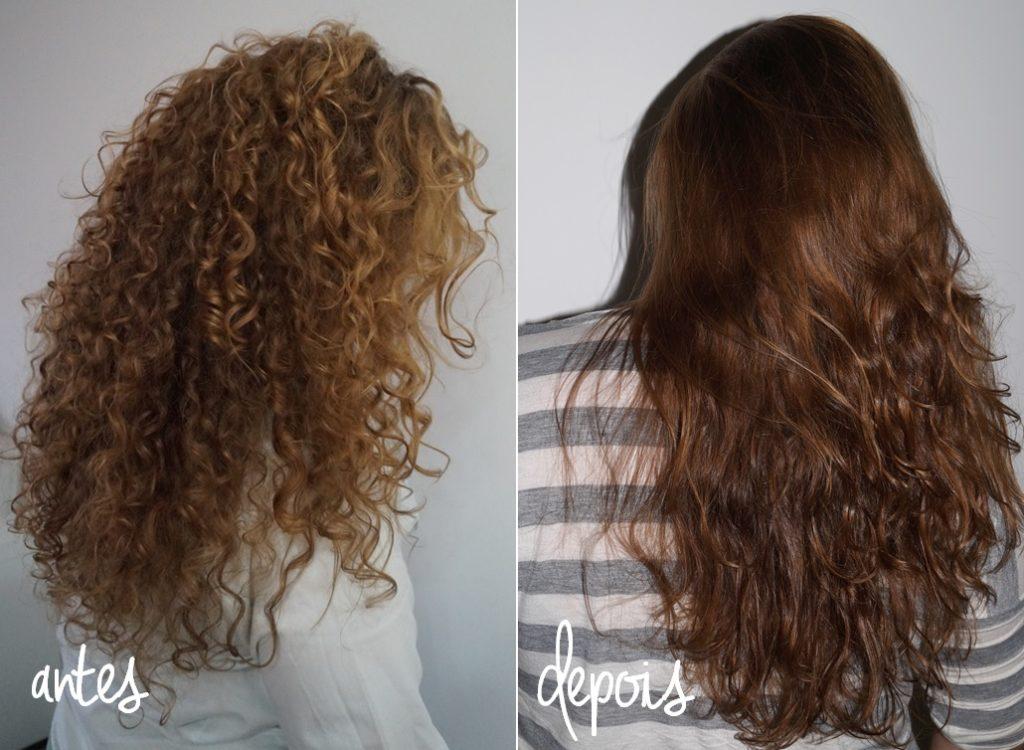 antes e depois da selagem nos cabelos