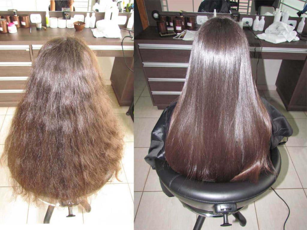 antes e depois selagem