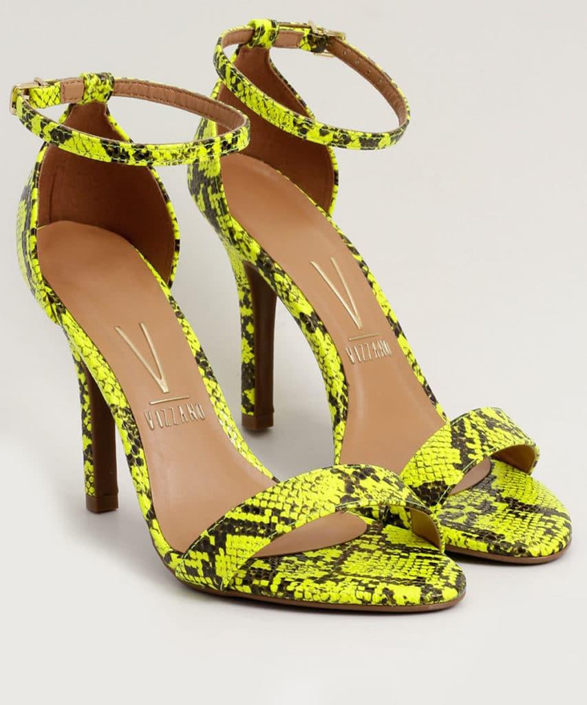 sapato feminino neon cobra