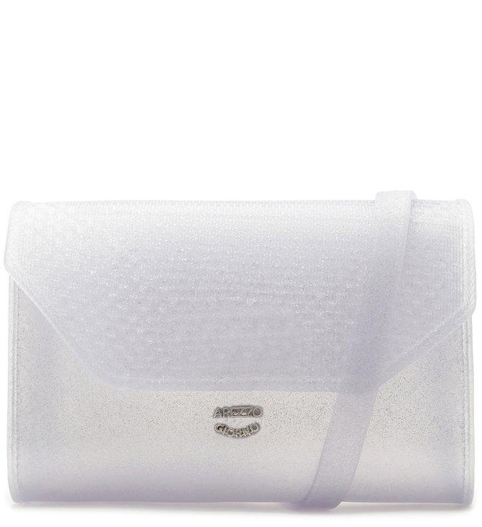 bolsa branca com brilho