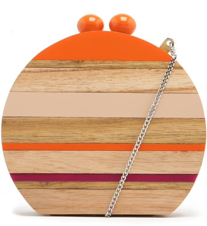 bolsa de mão em madeira Arezzo