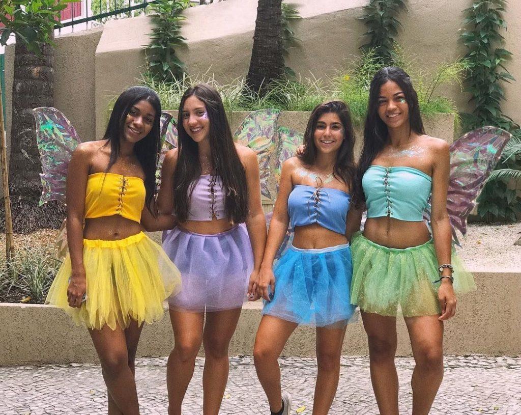 fantasia carnavalesca amigas fadas