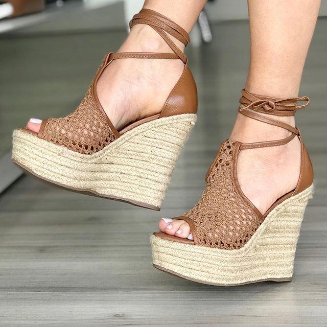 sandália de sisal
