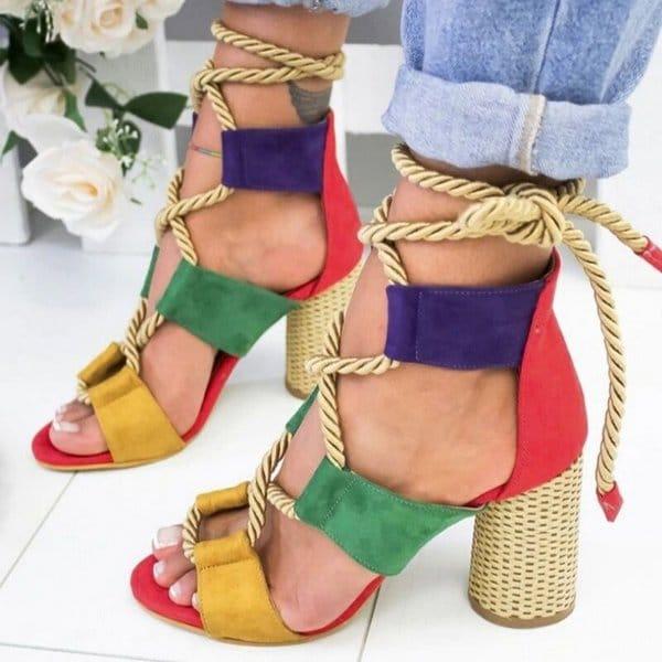 sandália de corda