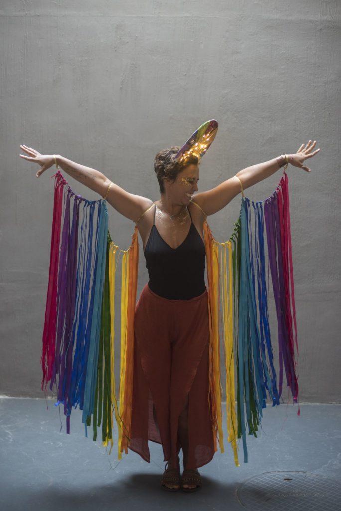 asas de cetim coloridas