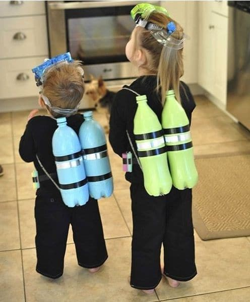fantasia de carnaval infantil mergulhador