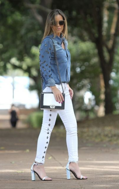 sapatos femininos branco