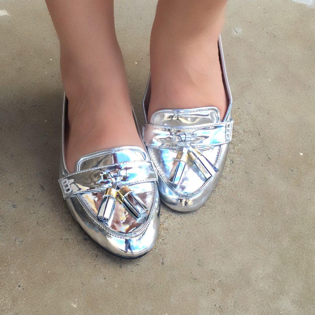 sapatos femininos metalizados para 2020