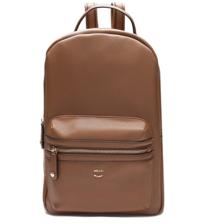 mochila de couro marrom