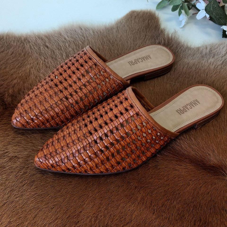 sapatos femininos mule tresse