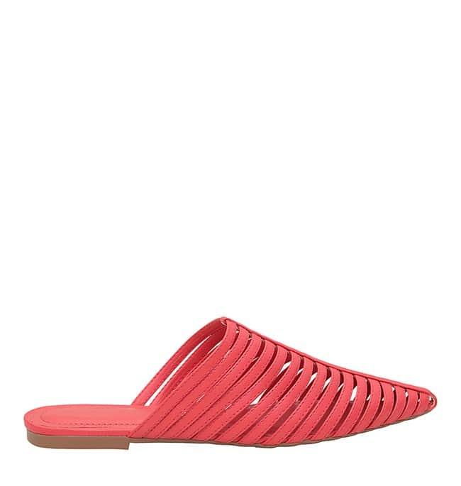 sapato mule vermelho