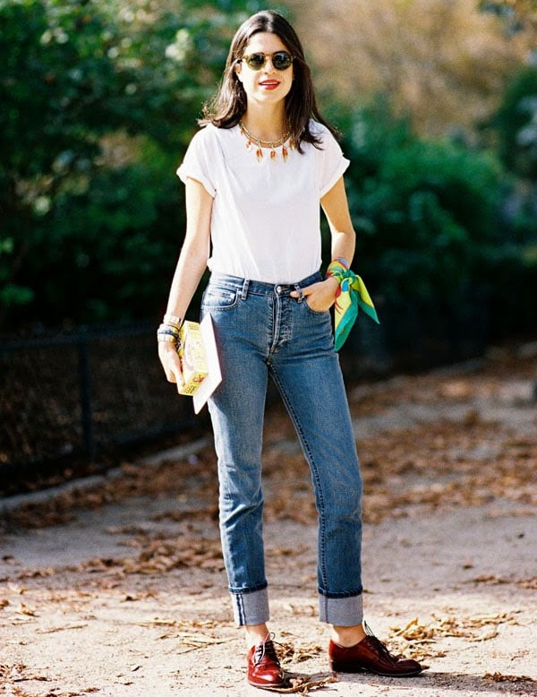 oxford com calça jeans
