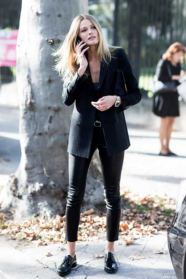 tipos de sapatos para looks pretos