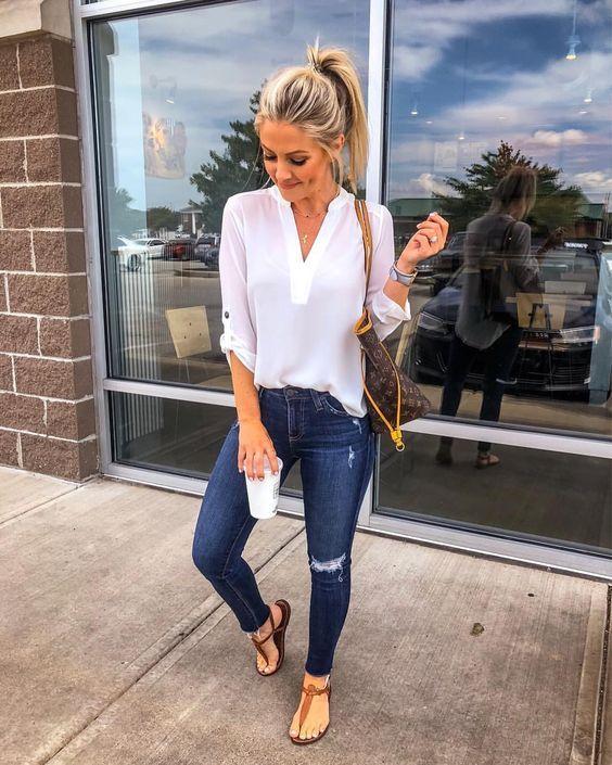 rasteirinha com jeans