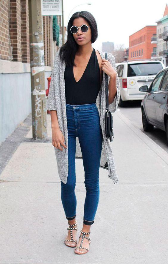 rasteirinha com calça jeans