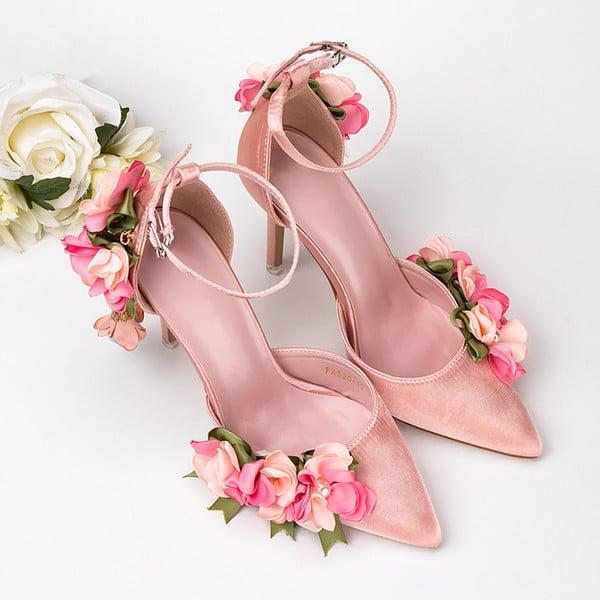 sapato rosa casamento 3d