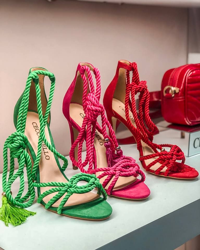 sandalias femininas coloridas de corda