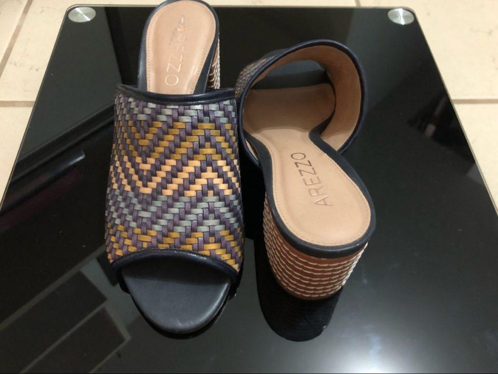 sapatos femininos tresse azul