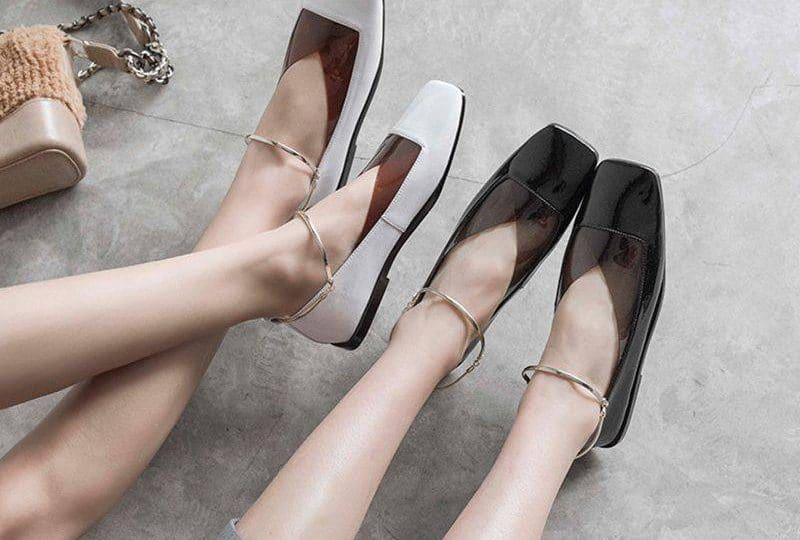 sapatos femininos bico quadrado