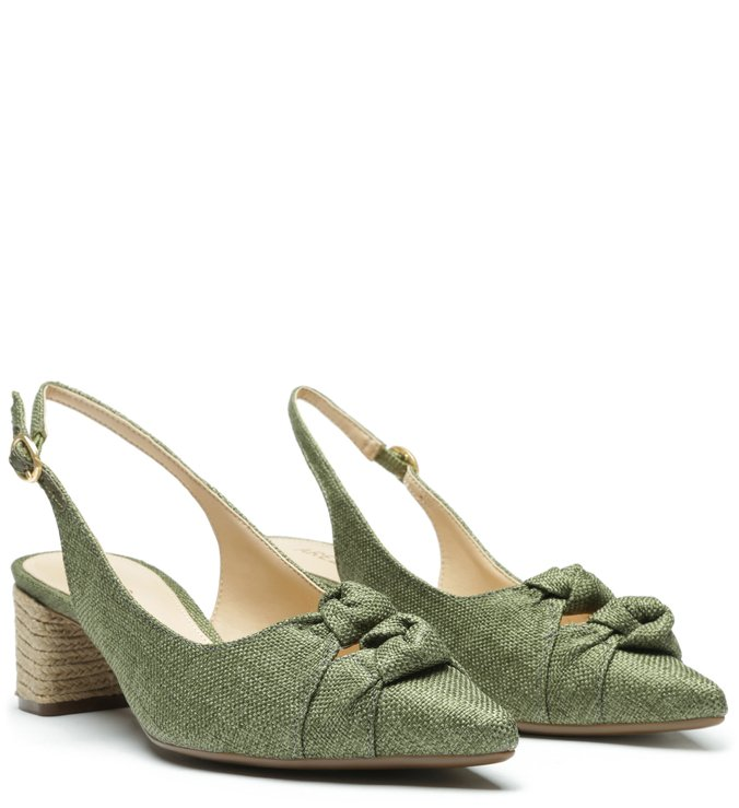Sapato slimback verde