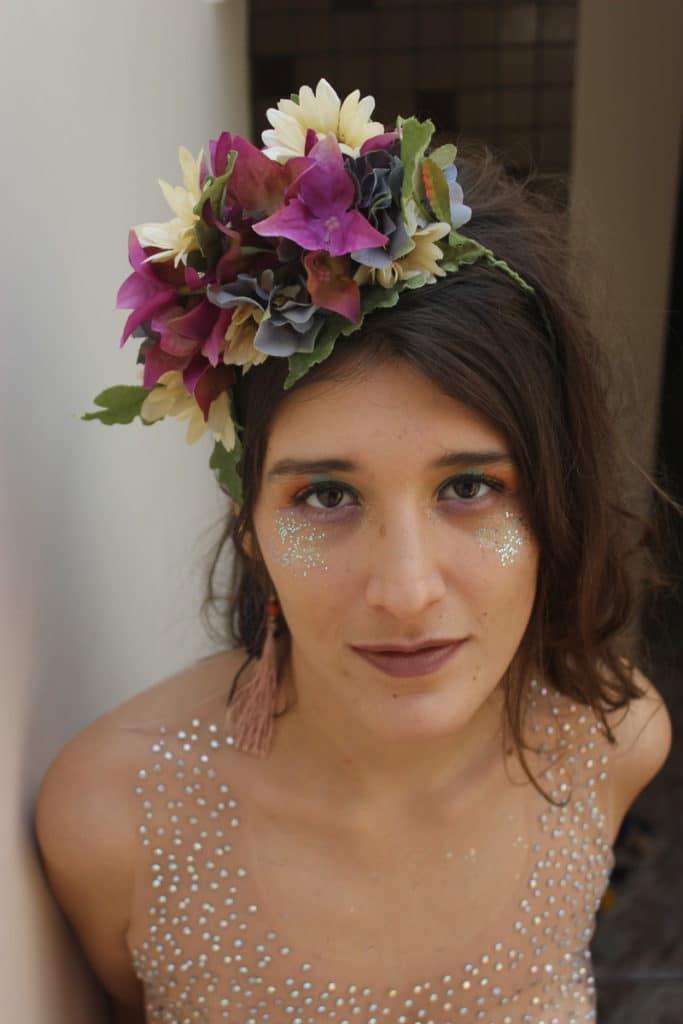 tiara adereço de fantasia carnavalesca