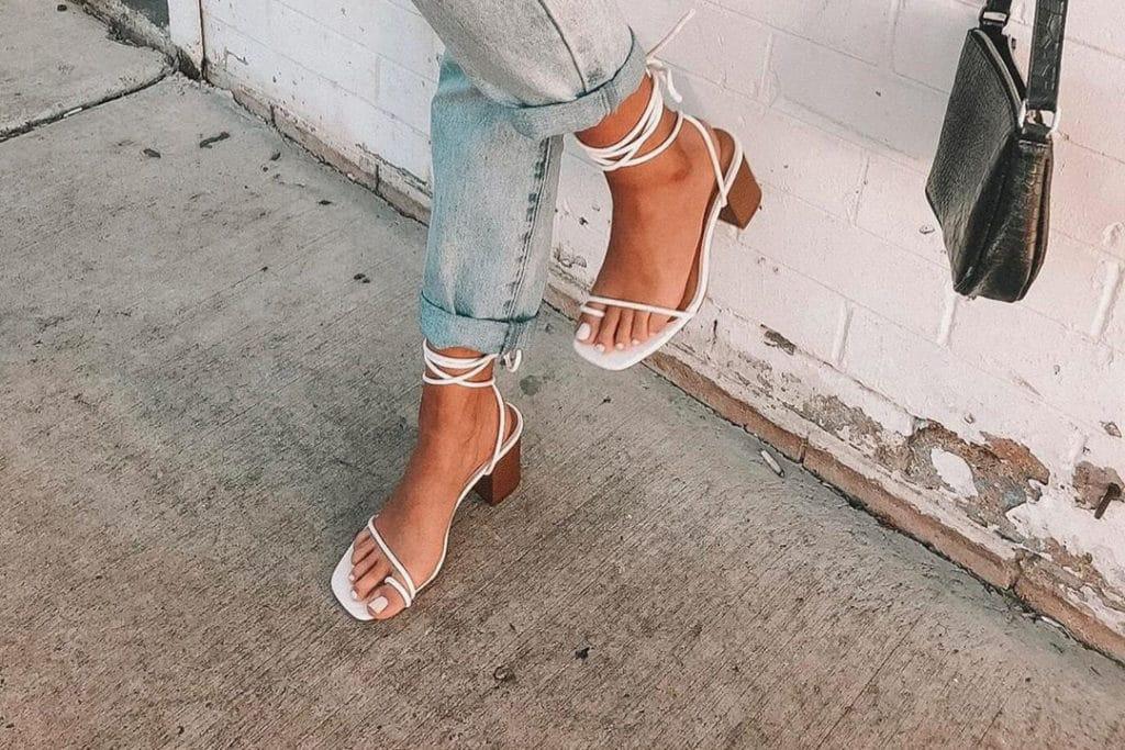 sapatos femininos sandália branca
