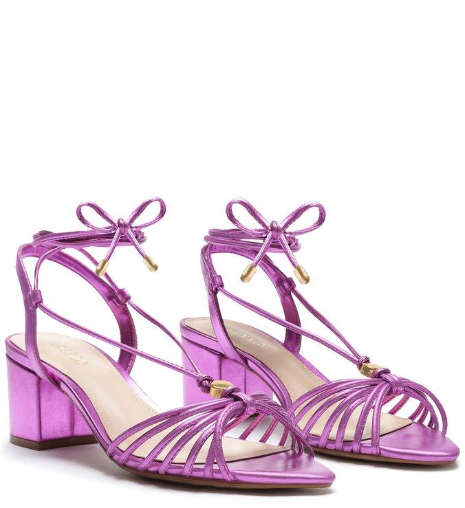 Sandália Arezzo amarração pink