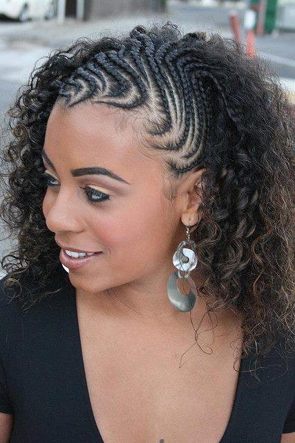 tranças com cabelo cacheado