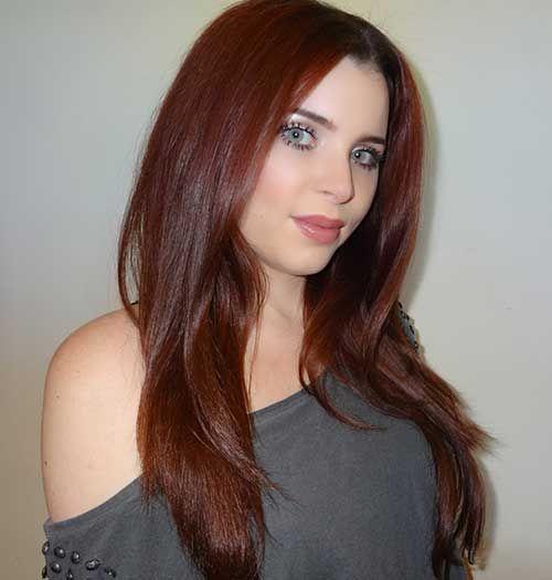 cores de cabelo acaju
