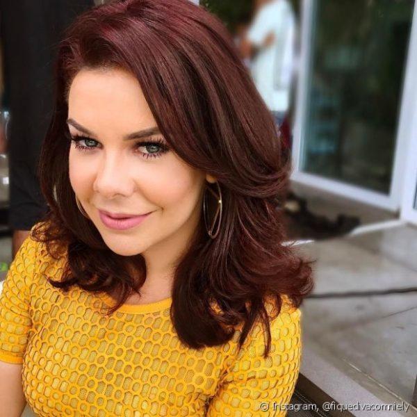 Fernanda Souza cabelo acaju