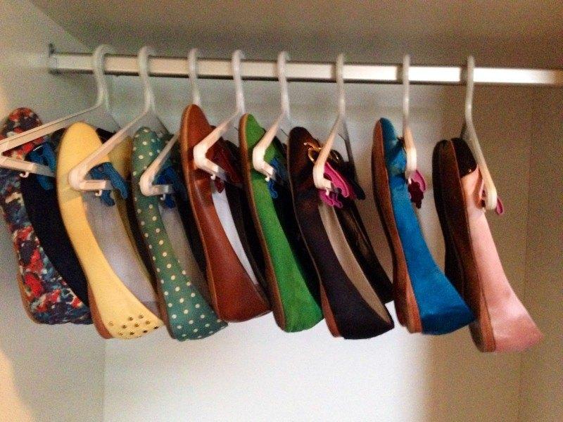 sapatilhas organizadas
