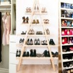 como organizar sapatos