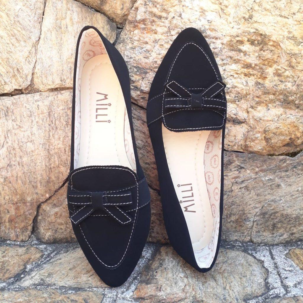 sapatilhas milli cor preta