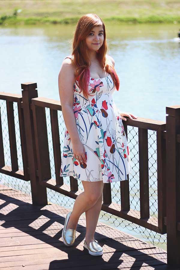 vestido flotido