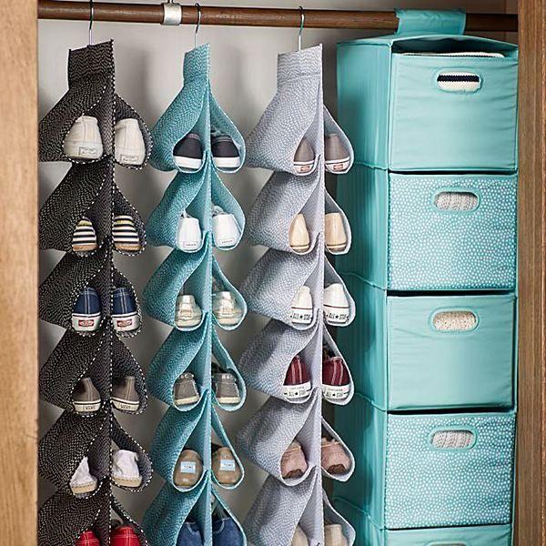 como organizar sapatos vertical