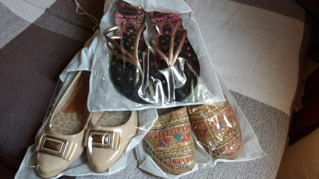 como organizar sapatos m EVA