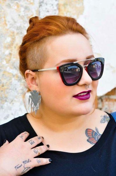 óculos de sol para rosto redondo lente preta