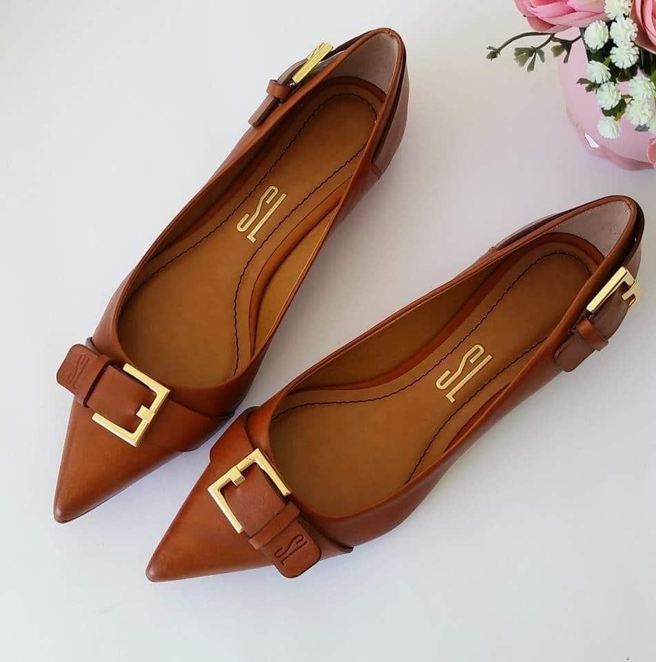 sapatilhas de couro