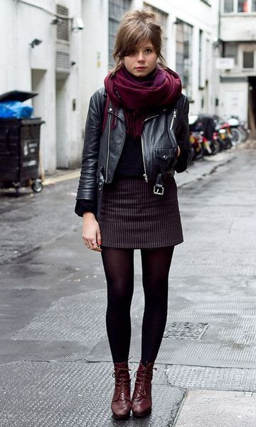 como usar cachecol com vestido curto