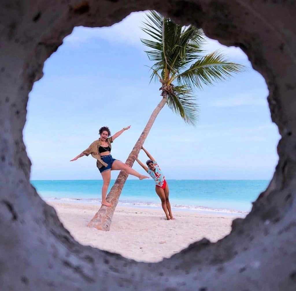fotos na praia perspectiva amigas