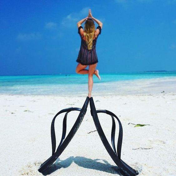 fotos na praia com criatividade