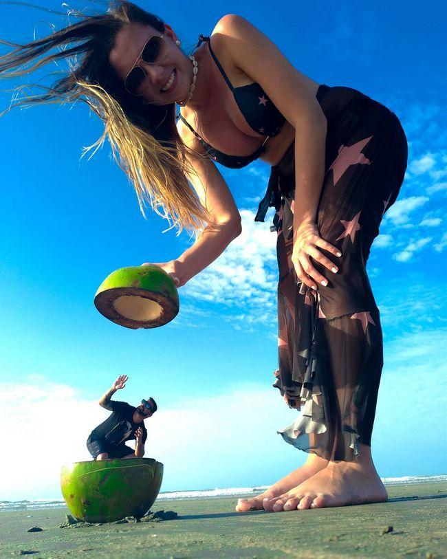 fotos na praia coco verde