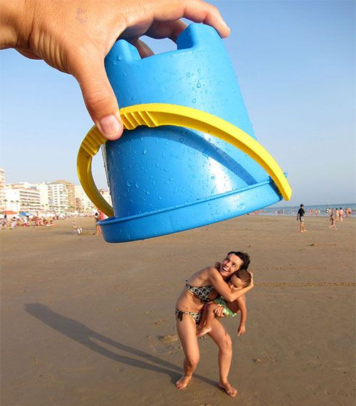 balde de plástico