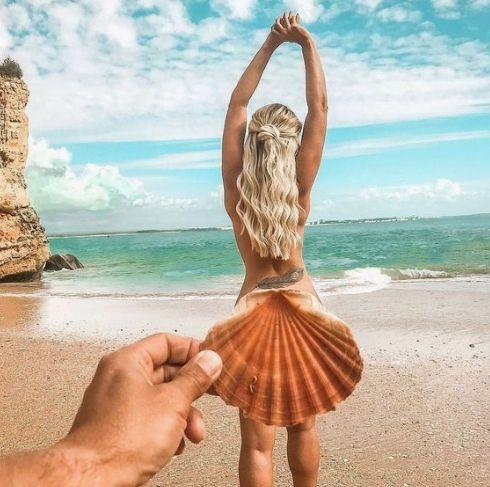 foto tumblr na praia