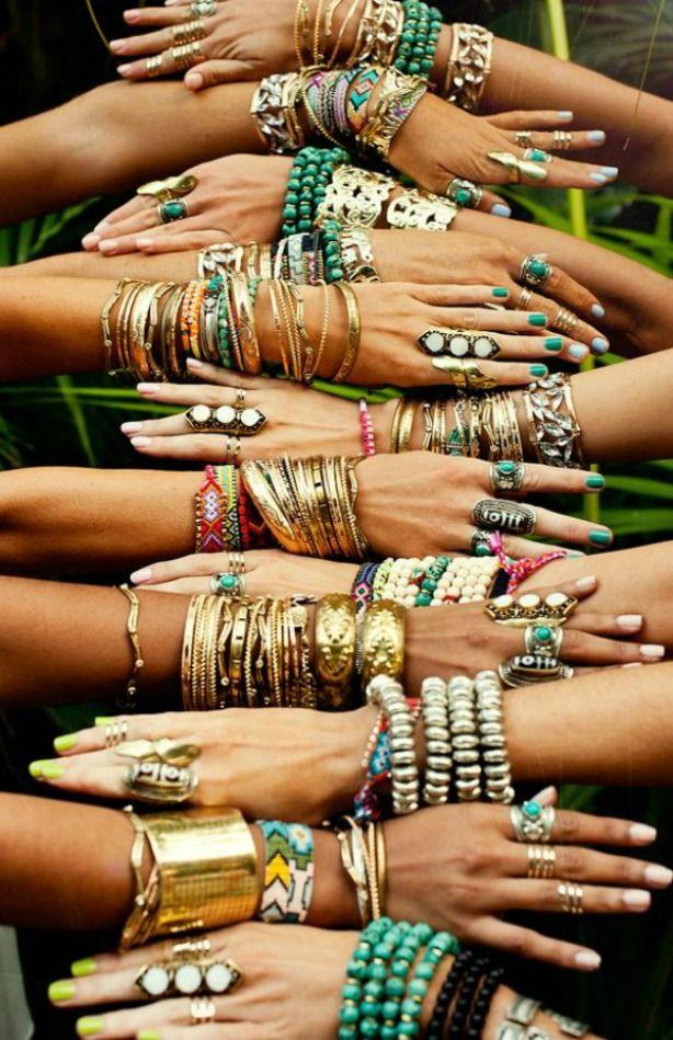 pulseiras moda hippie